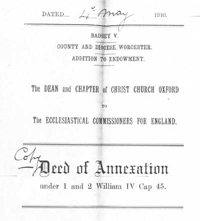 Deed of annexation