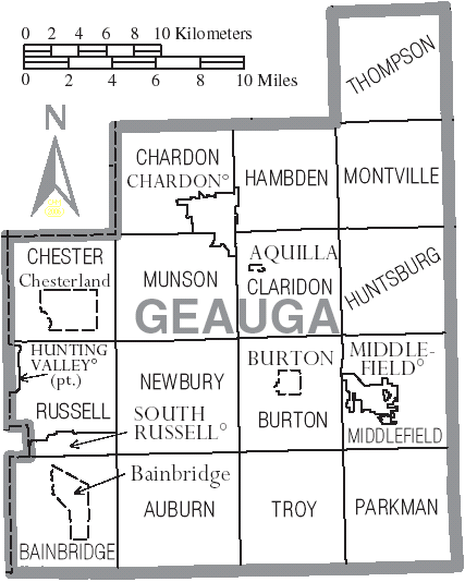 Auburn's location within Geauga.