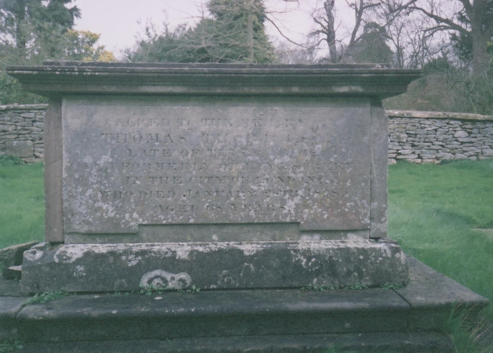 Thomas Thorp grave 1847