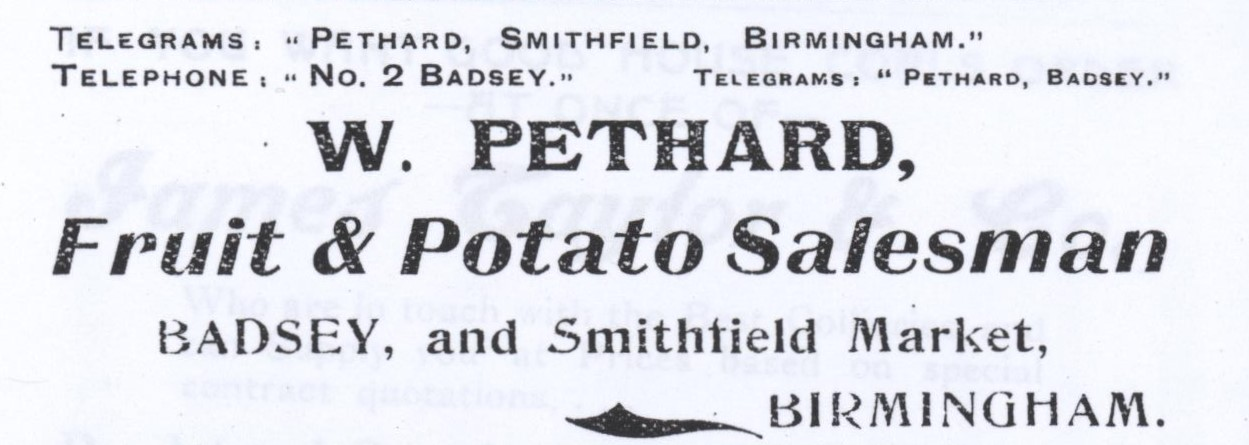 William Pethard advert