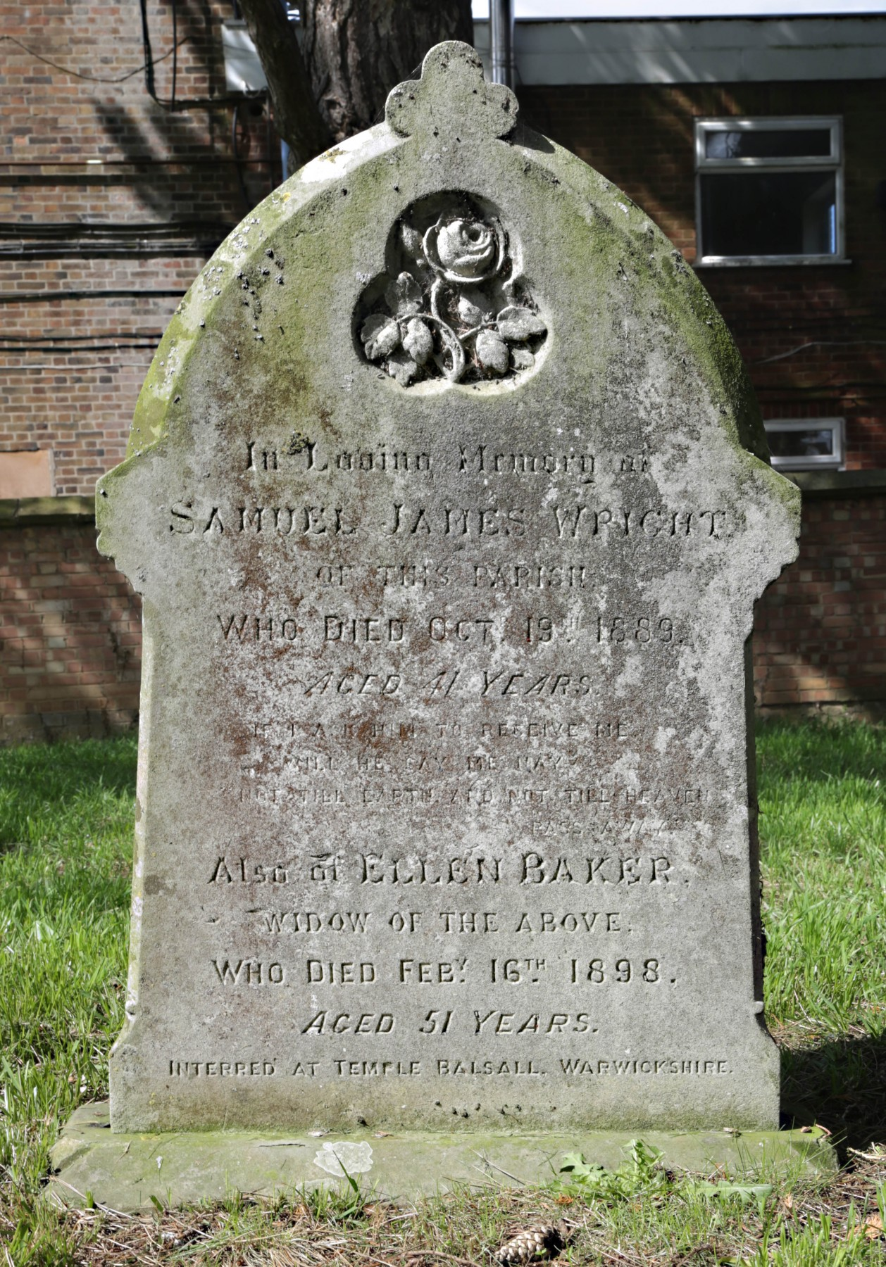 Grave of Samuel James Wright
