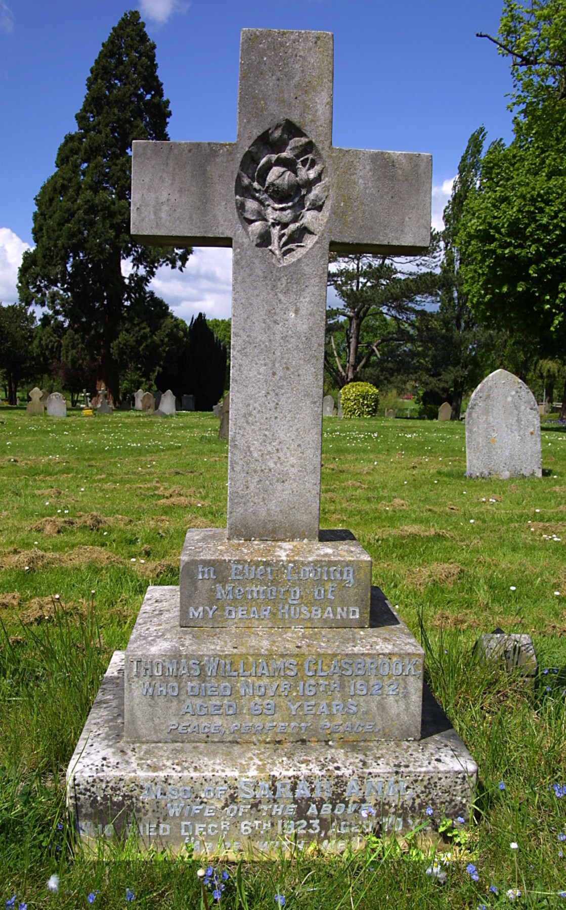 Thomas and Sarah Ann Glasbrook grave