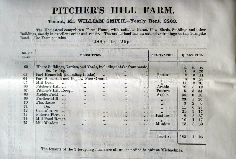 (9) Pitcher's Hill Farm details