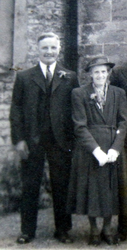 Charles Mason (Lots 65, 72 & 74) and his wife Annie at his son Fred's wedding in 1943.