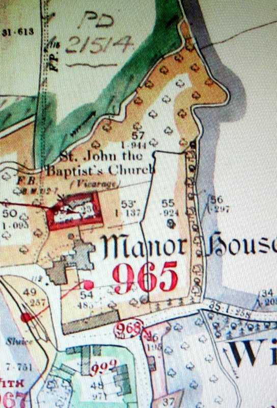 Church on map