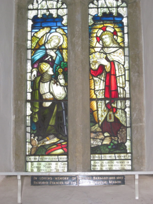 20. South window in nave in memory of George Mason, killed in action in France in 1917, which was erected in 1920.