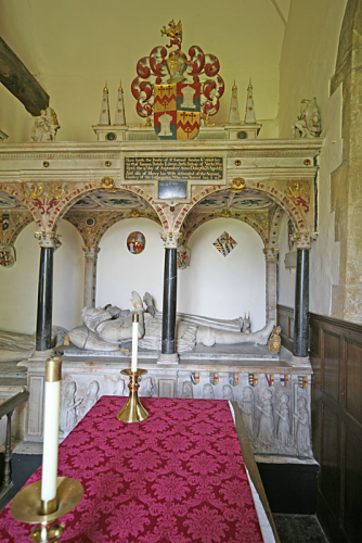 30. Monument to Sir Samuel Sandys and his wife Mercy, nee Culpepper.