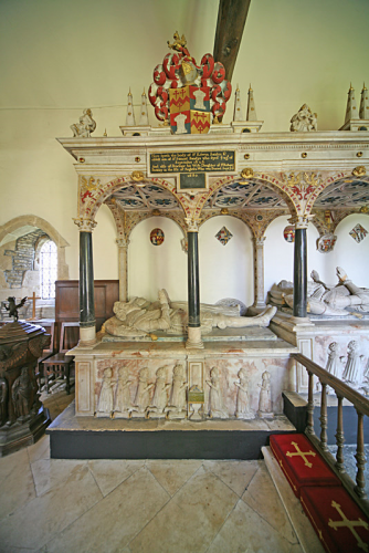 34. Monument to Sir Edwyn Sandys and his wife Penelope, nee Buckley