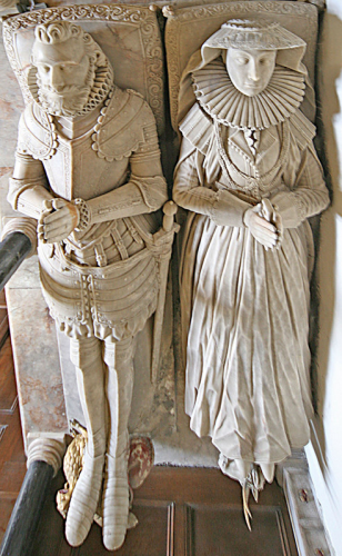 36. Effigies of Sir Edwyn and Penelope Sandys.