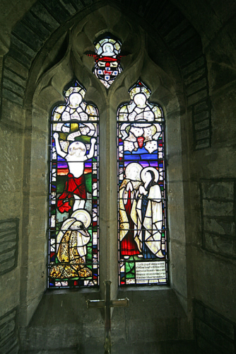 43. Early English style lancet windows in east wall of chancel.