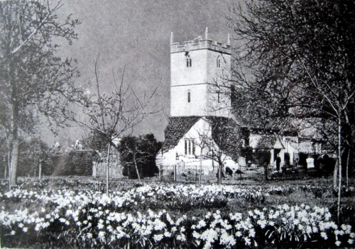 54. The church in the 1930s, before the boundary wall was built.