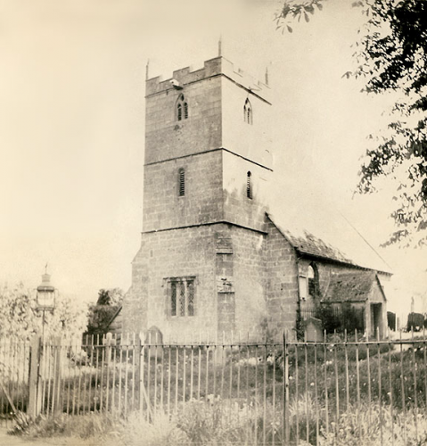 55. The church in the 1920s or 1930s, before the boundary wall was built.