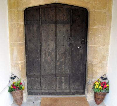 6. The main entrance to the church in the south porch.