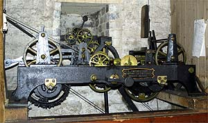 The clock mechanism as it looks today