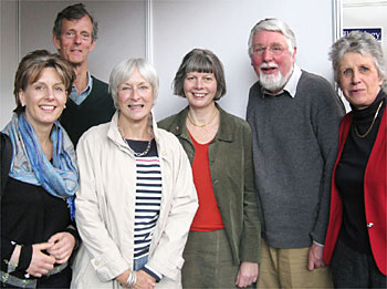 Supporters and members of the Badsey Society: Beth Norman, Patsy and Anthony Miller, Maureen Spinks, Richard Phillips, Elizabeth Noyes.