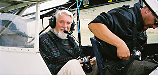 Richard Phillips in light aircraft