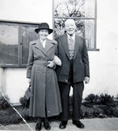 George Sutton and his wife, in later years.