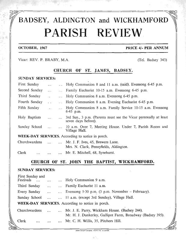 Parish Magazine, October 1967