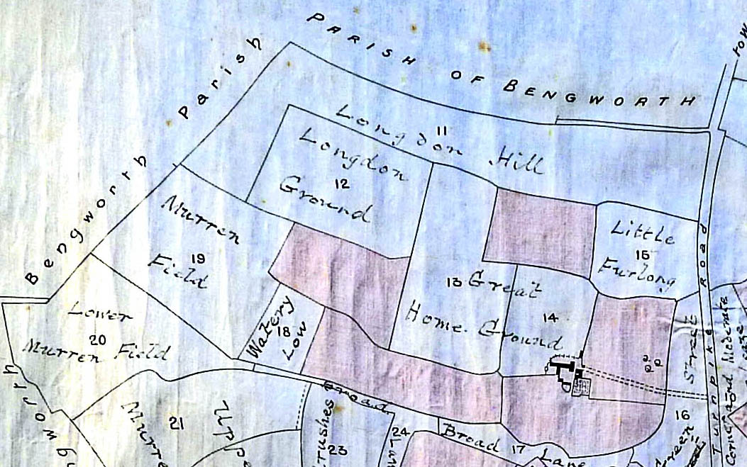 Tithe Map 1842, Longdon-Hill
