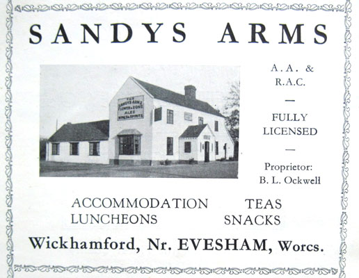 An advert for the Sandys from an Evesham trade publication in 1937 (sixth edition).