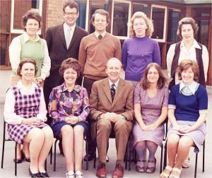 Badsey First School Staff (c 1975)