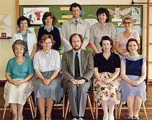 Badsey First School Staff (c 1988)
