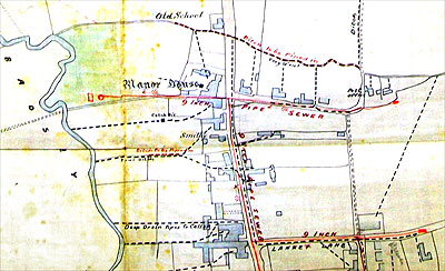 Detail from the 1896 drainage map