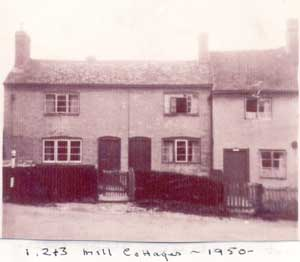 1, 2 and 3 Mill Cottages, 1950