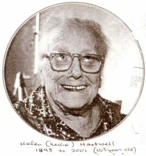 Helen (Nellie) Hartwell, 1898-2001 (103 years old)