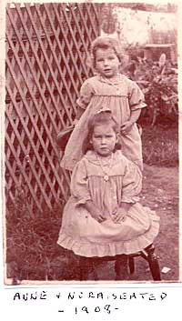 Anne and Nora seated - 1908