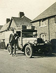 Delivering bread in the 1930s.