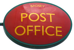 Current Badsey Post Office sign.