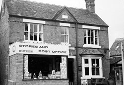 The post office in 1968 with the Midland Bank next door.
