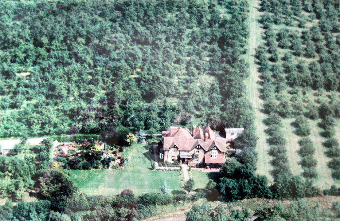 Dr Heath's home on Longdon Hill, photographed here in 1961.