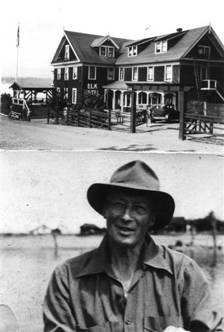 The Elk Hotel, Comox and George Osler by the shore