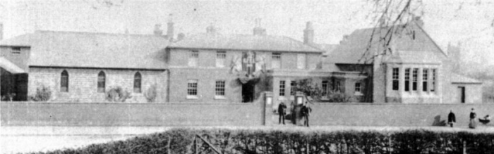 Part of Pershore Union Workhouse in 1895, home to Ellen Hooper and her four children.