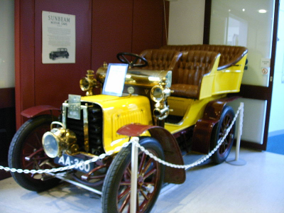 A Sunbeam car of the period