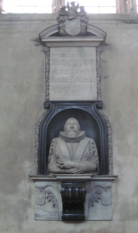 Monument to Hugh Barker in the Ante-Chapel at New College, Oxford