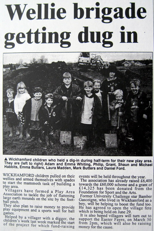 Report from the Evesham Journal of 29th February 1996.