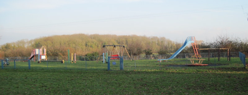 The adventure playground in the recreation ground – (photographed in January 2015).