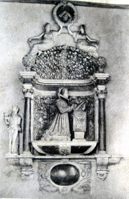Monument at the tomb of Cicely Sandys in Woodham Ferrers