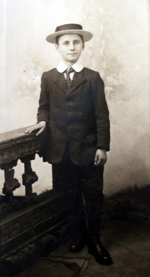 Ted Roberts as a boy