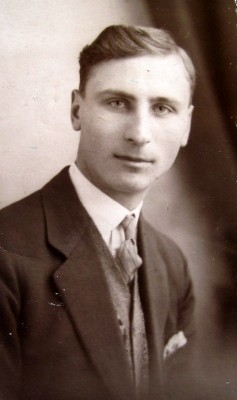 Ted Roberts as a young man