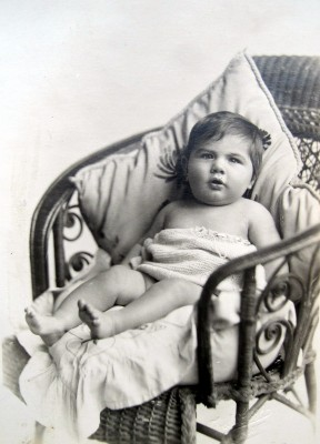 Charles William (Bill) Walters, son of Bill and Elsie as a baby