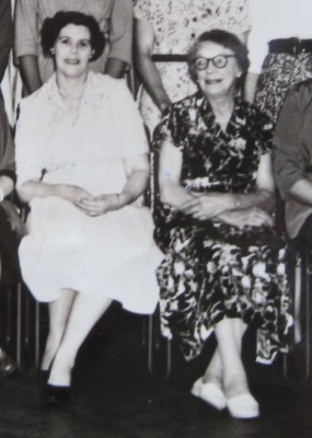 Mrs Parry and Mrs Dean, the first Secretary and President.
