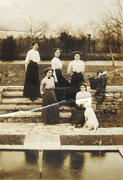 Five female staff at the Manor.