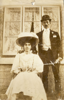 Wedding day of Stephen Styles and Annie Ladner in late 1909
