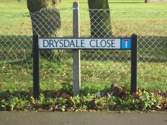 Drysdale Close, beside the playing field was named after Bertha Drysdale