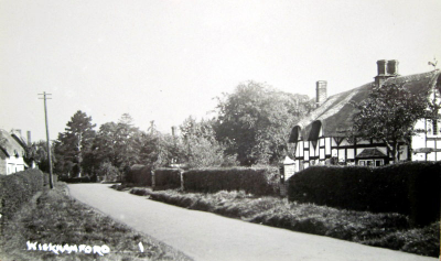 A postcard from the 1930s showing 'Brookfield', Bertha Drysdale's home in Manor Road, Wickhamford for over 30 years