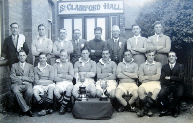 A young Jack Haines (front row, second on left) with the Charlton Kings team.